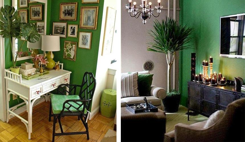 或是書房,或是客廳,在設計時,選擇綠色作為主色,打造出個性鮮明的房間