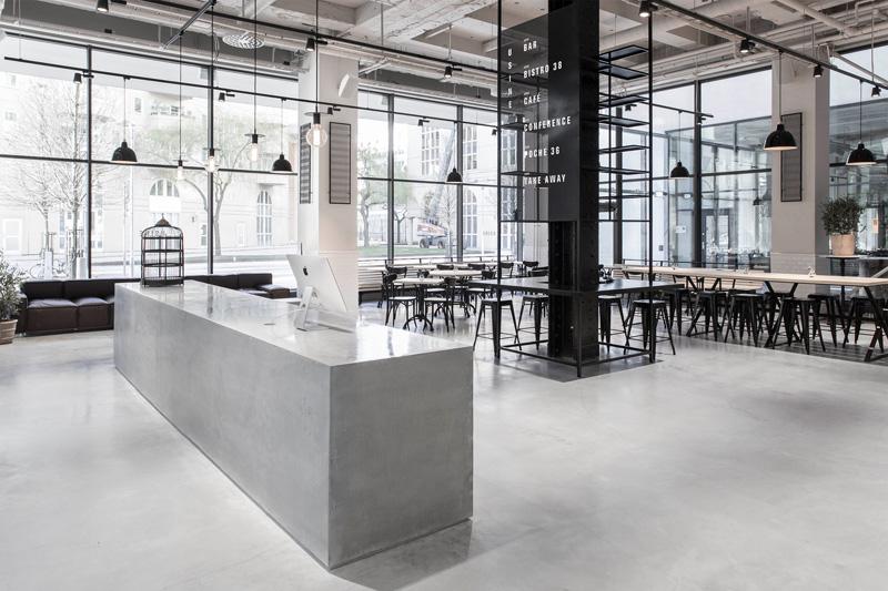 黑白空间,明亮开阔的工业风餐厅魅力无限